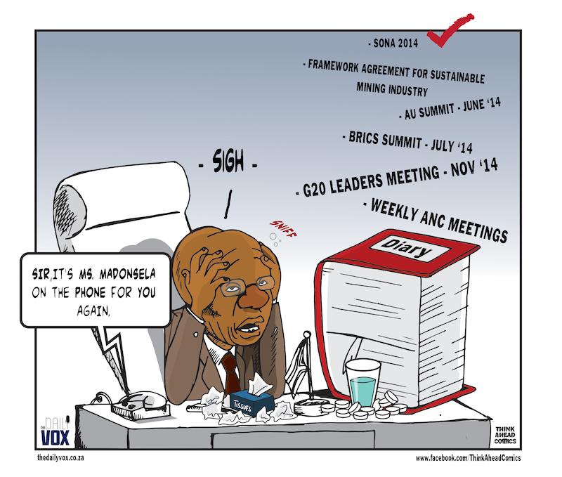Zuma under the weather