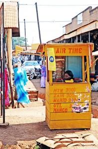 MTN public telephone cellphone Uganda [wikimedia commons]