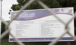 Eastern Cape health department clinic sign