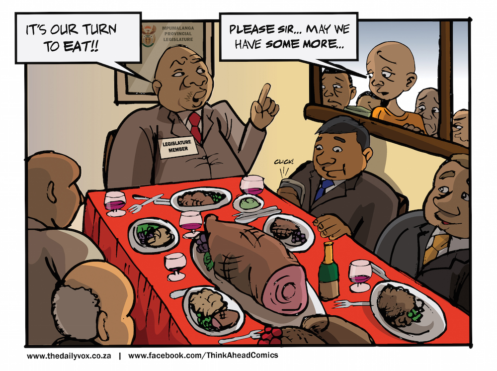 Our turn to eat [cartoon]