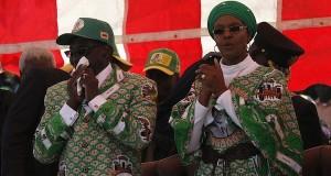 Robert and Grace Mugabe Zimbabwe [wikimedia] [slider]