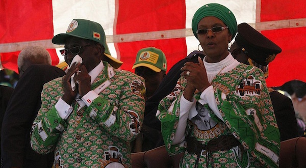 Robert and Grace Mugabe Zimbabwe [wikimedia] [slider]