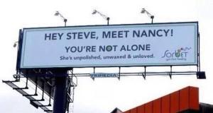 Steve Nancy Sorbet billboard [twitter]