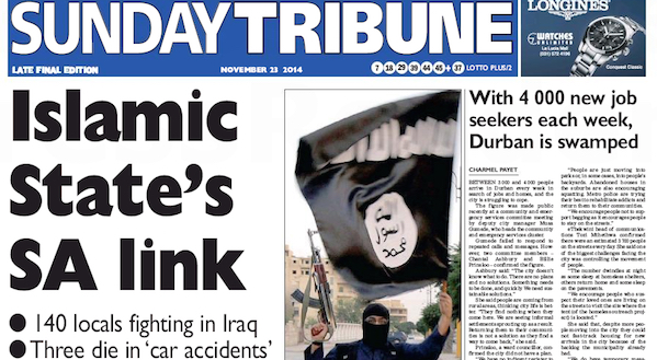 Sunday Tribune Islamic State SA link [slider]