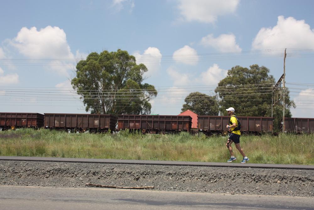 Brandon Finn running by train [supplied]