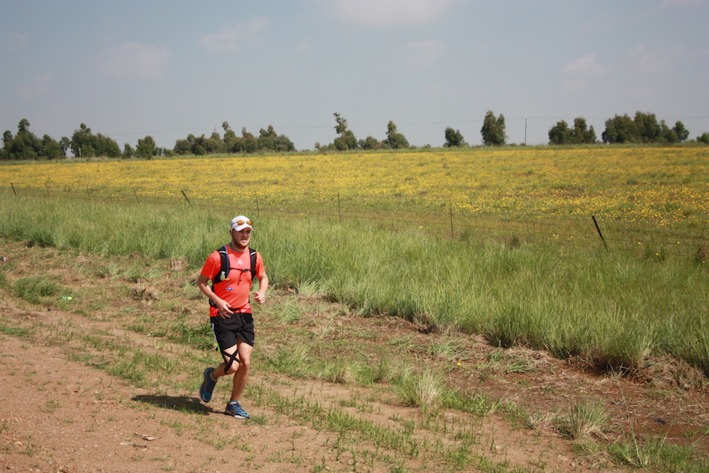 Brandon Finn running in a field [supplied]