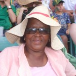 Eunice Botopela at the cricket [Theresa Mallinson]