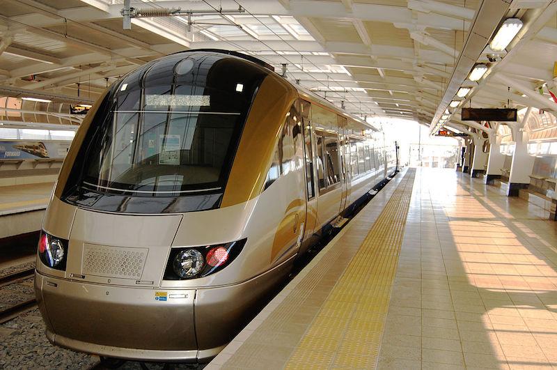 Gautrain train at platform [wikimedia]