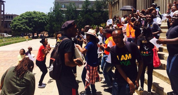 NSFAS protest at Wits