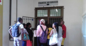 Students queueing at DUT [Zimasa]