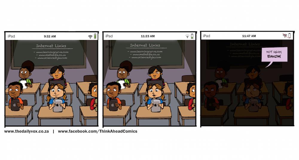 Tablets in class [cartoon]