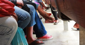 Patients queue at a state clinic [raeesa]