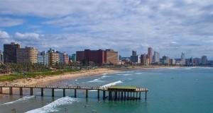 Durban City view over beach [wikimedia]