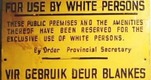 Nie Blankes Whites Only sign [wikimedia]