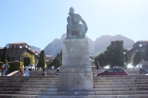 Statue of Rhodes at UCT's Upper Campus