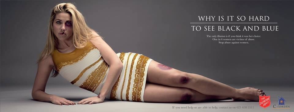 Salvation Army ad in full #thedress [image via twitter]