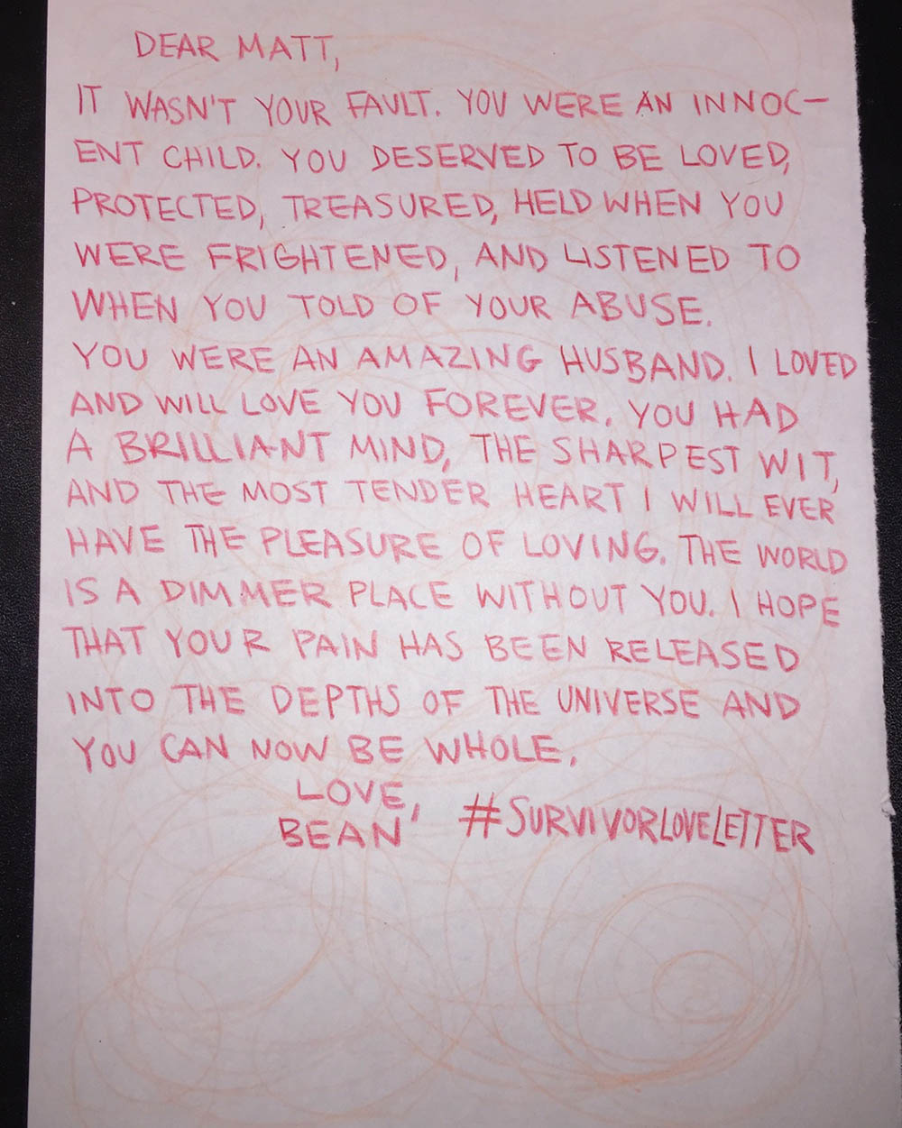 Blog of love letters from sexual abuse survivors survivorloveletter2 spiritdancerdesigns