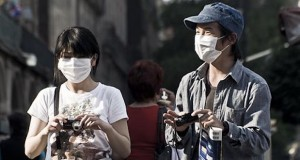 Tourists in Mexico City during the Swine Flu outbreak
