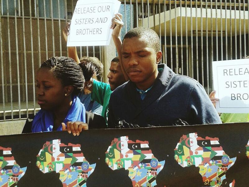 Anti xeno police march 1