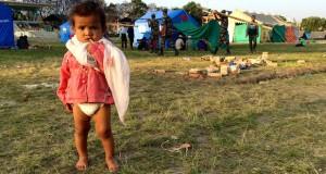 Child Nepal relief camp [slider]