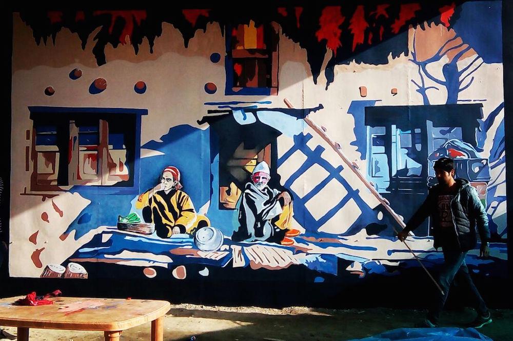 Kashmir mural painting 4