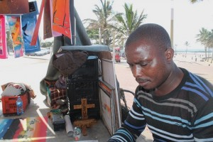 Moses Matache at work