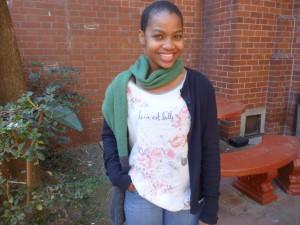 Sinenhlanhla Ndulula, 18, Student, Bluff
