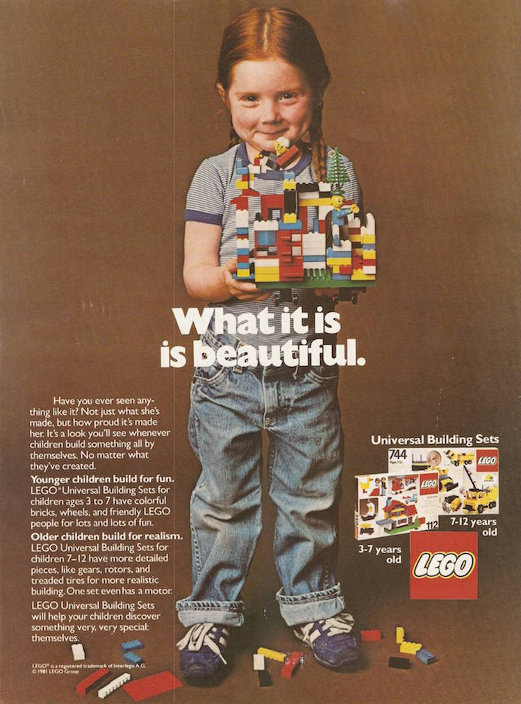 Lego advert from the 80s