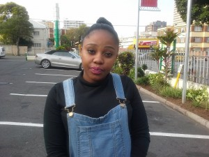 belinda Mkhize, 24, Call center consultant, Pinetown