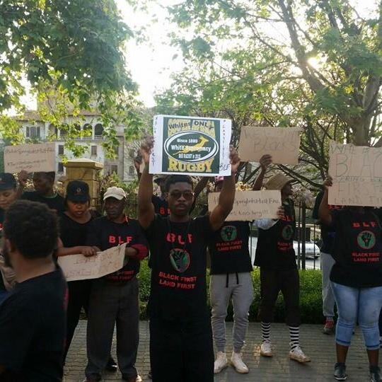 BlackFirstLandFirst protest against White Springboks