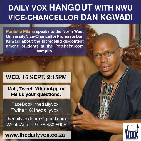 Social media card NWU VC hangout