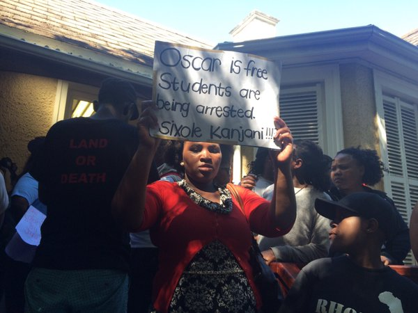 Oscar free students arrested [raeesa pather]