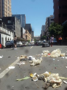 Rubbish in CBD Joburg Pikitup