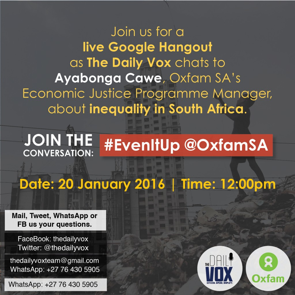 SMC for Oxfam inequality hangout