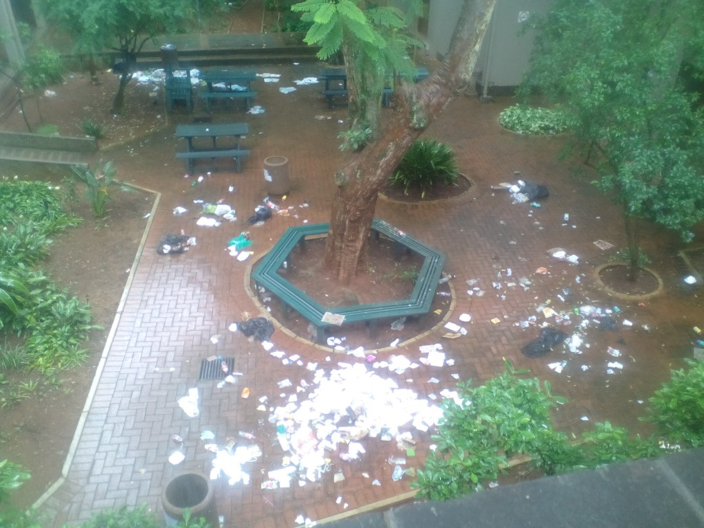 UKZN Protest rubbish 1