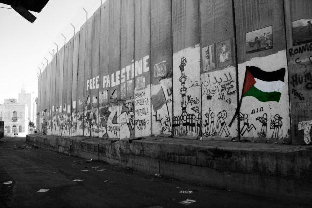 IAW 2016 pics graffiti on separation barrier 22
