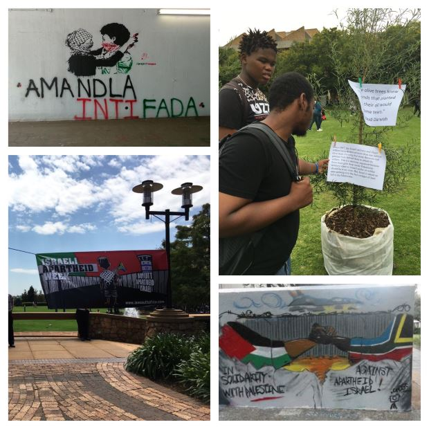 A few of the installations at Wits University for #IsraeliApartheidWeek 2016