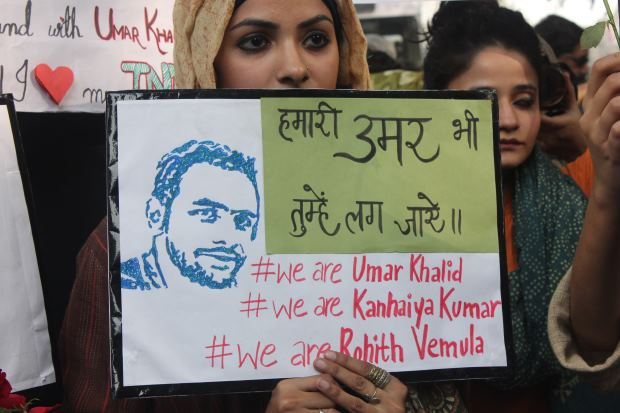 JNu protests Sanjay Kumar 4