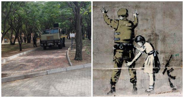 NWU graffiti collage