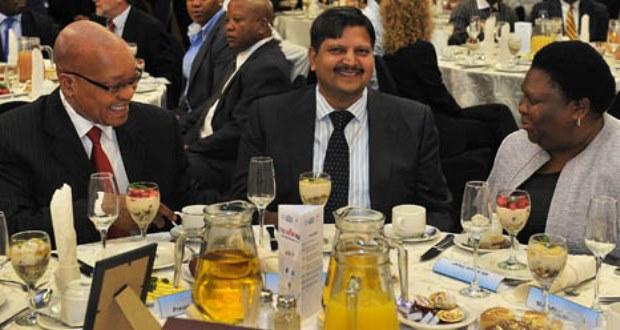 President Jacob Zuma at SABC/New Age Breakfast.