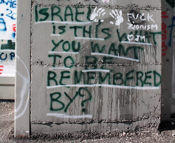 IAW 2016 pics graffiti on separation barrier 22