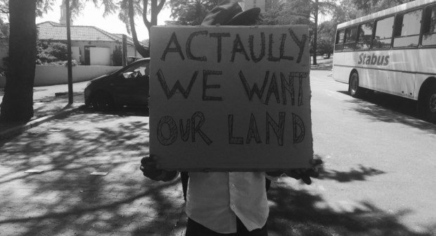 protest placard land