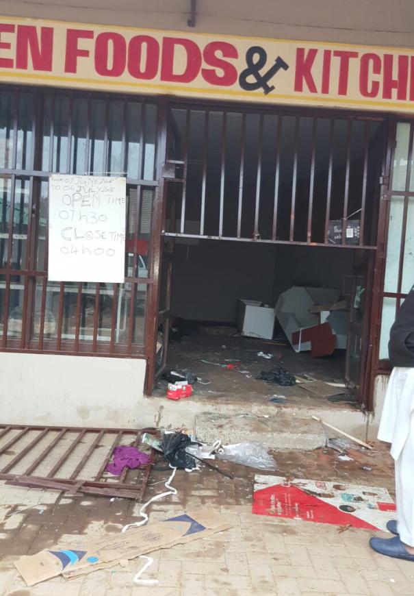 Looted store in Giyani Asif Talati