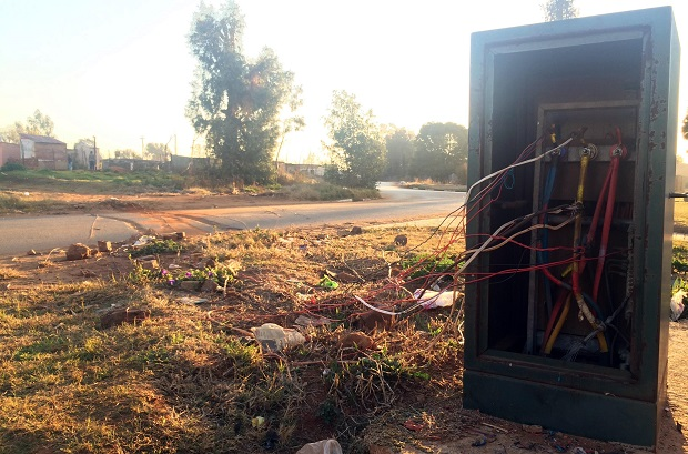 Residents from Thembelihle connect power illegally from an electricity box