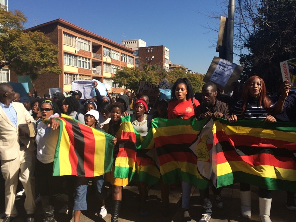 Zimbabwe solidarity march 2