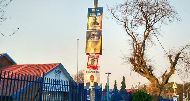 DA EFF 2016 local election street posters