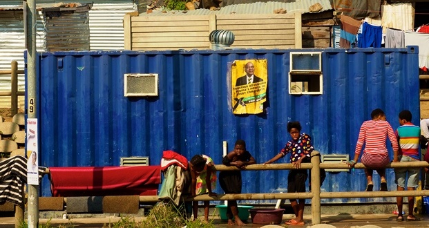 ANC poster and shack jacob zuma elections [slider]