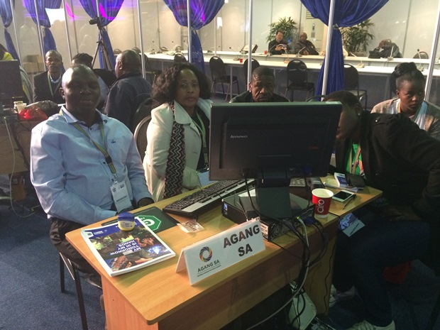 Agang Table at the IEC results centre