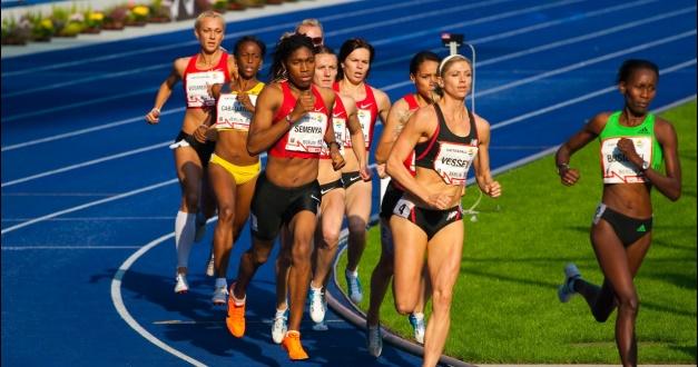 Caster Semenya racing