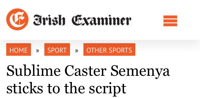 Caster headline Irish Examiner